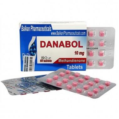 Danabol Данабол Метандиенон Метан 10 мг, 100 таблеток, Balkan Pharmaceuticals в Петропавловске