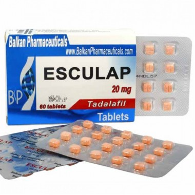 Esculap Тадалафил Эскулап 20 мг, 20 таблеток, Balkan Pharmaceuticals в Петропавловске
