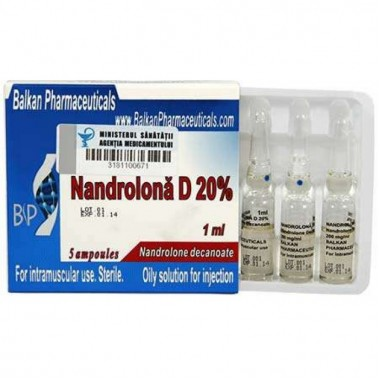 Nandrolona D 20% Нандролон Деканоат 200 мг/мл, 10 ампул, Balkan Pharmaceuticals в Петропавловске