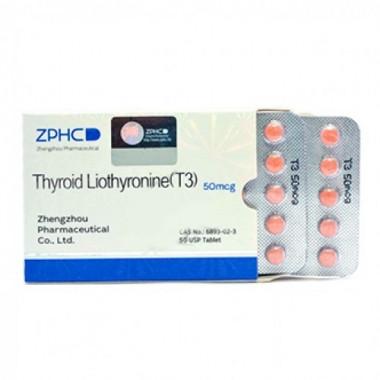 Thyroid Liothyronine T3 Трийодтиронин 50 мкг, 50 таблеток, ZPHC в Петропавловске